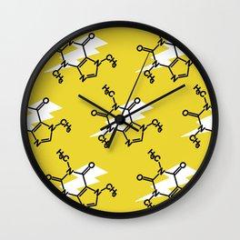 Struck by Caffeine Wall Clock