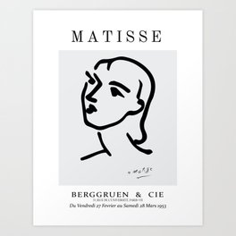 Matisse cutouts abstract face. Art Print
