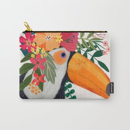 Toucan with flowers on head Carry-All Pouch