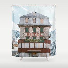 Hotel Belvedere, Switzerland Shower Curtain