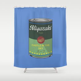 Castle in the sky - Miyazaki - Special Soup Series  Shower Curtain