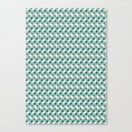 Squared circles abstract geometric print - green Canvas Print