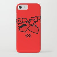 mario bros iPhone & iPod Cases featuring Mario & Luigi - BROS by La Manette