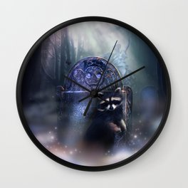 Raccoon Spirit Wall Clock