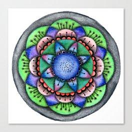 Raimbow Flower Mandala Canvas Print