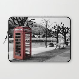 old English phone booth in colorkey Laptop Sleeve