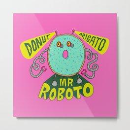 Donut Arigato Metal Print