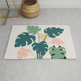 Cat and Plant 21: Leaf Me Alone Rug