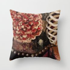 Between Two Mirrors Throw Pillow