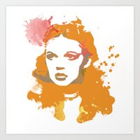 dorothy Art Prints featuring Dorothy by BIG Colours