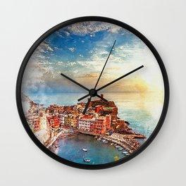 Italy, Cinque Terre Wall Clock