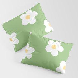 Retro 60's Flower Power Print Pillow Sham