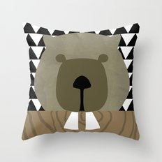 Me and my beaver teeth Throw Pillow