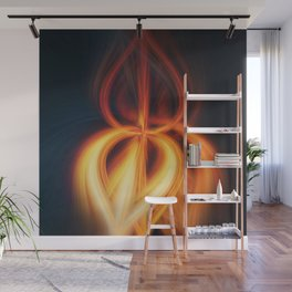 Flame Blossom Wall Mural