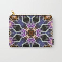 Crystal Diamonds Geometric Mandala Carry-All Pouch