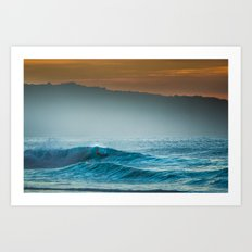 Surf on north shore Hawaii Art Print