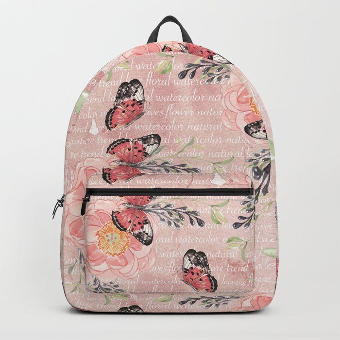 Flowers & butterflies #1 Backpack