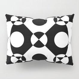 Black and white reversed Pillow Sham