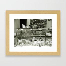La Boqueria Butcher, Barcelona Framed Art Print