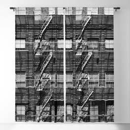 Fire escapes at noon Blackout Curtain