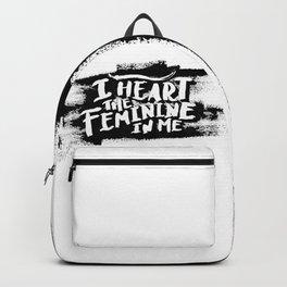 I heart the feminine in me Backpack