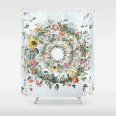 Circle of Life Blue Shower Curtain