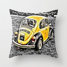 Bumble Beetle Throw Pillow