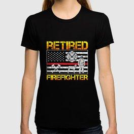 Thin Red Line Firefighter Hero Retirement Retired T-shirt