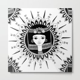 1000bc Egyptian inspired mandala Metal Print