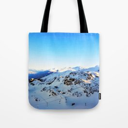 Shades of blue at the mountains Tote Bag