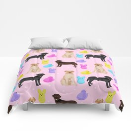 Labrador retriever dog breed peeps marshmallow treat easter spring dog gifts Comforters