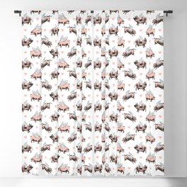 Flying Pigs | Vintage Pigs with Wings | Blackout Curtain