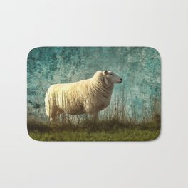 Vintage Sheep Bath Mat