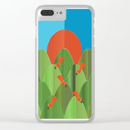 red squirrels at the sunset Clear iPhone Case