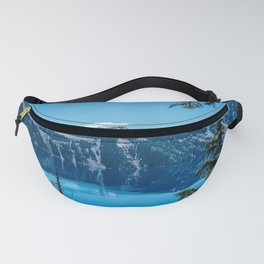 Crater Lake Views // National Park Landscape Photography Clear Deep Blue Waters Fanny Pack