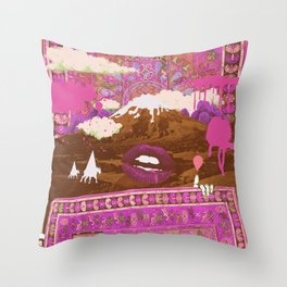 MORNING PSYCHEDELIA (Purple/pink) Throw Pillow