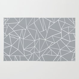 Abstraction Outline Grey Rug