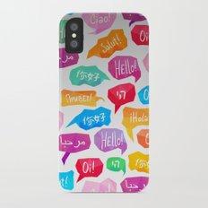 HELLO - CIAO - HOLA Slim Case iPhone X
