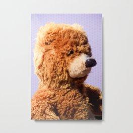 Stuffed Animal Teddy Bear Portrait 3 Metal Print