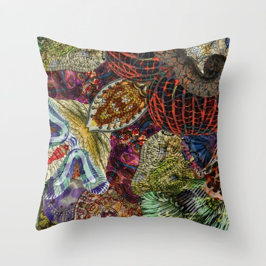 Psychedelic Botanical 7 Throw Pillow