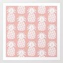 Retro Mid Century Modern Pineapple Pattern Dusty Rose 2 by tonymagnerdesign