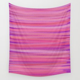 Springtime Blush Pink Striped Abstract Wall Tapestry