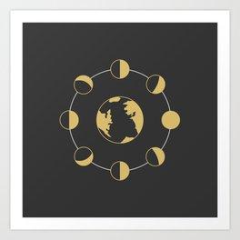 Moon phase–Cyclical Art Print