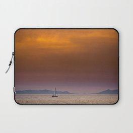 Yacht sailing towards Catalina Island Laptop Sleeve