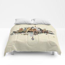 Collage City Mix 5 Comforters