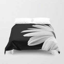Half Daisy in Black and White Duvet Cover