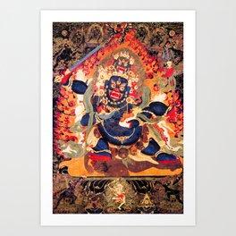 Buddhist Hindu Diety Mahakala 1 Art Print