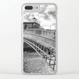 Ha'Penny Bridge in Dublin Clear iPhone Case