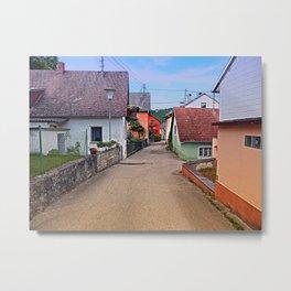 Picturesque little village lane | architectural photography Metal Print