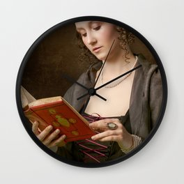 Girl with a Book Wall Clock